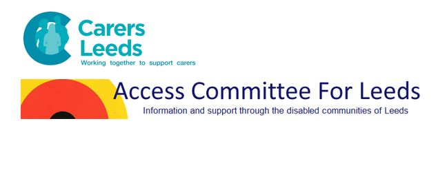 Logos of the two new Social Justice Community Partners, Carers Leeds and Access Committee For Leeds