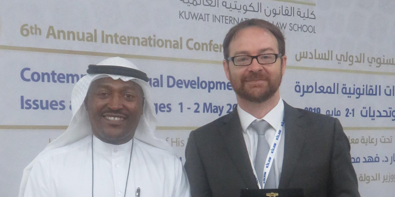 Professor Peter Whelan presents cartel law enforcement research in Kuwait