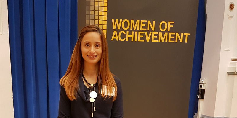 Dr Cristina G. Stefan received the 2018 University of Leeds Women of Achievement Award