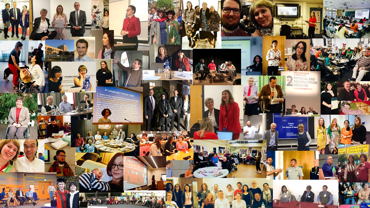 Collage of photos from the Centre for Disability Studies