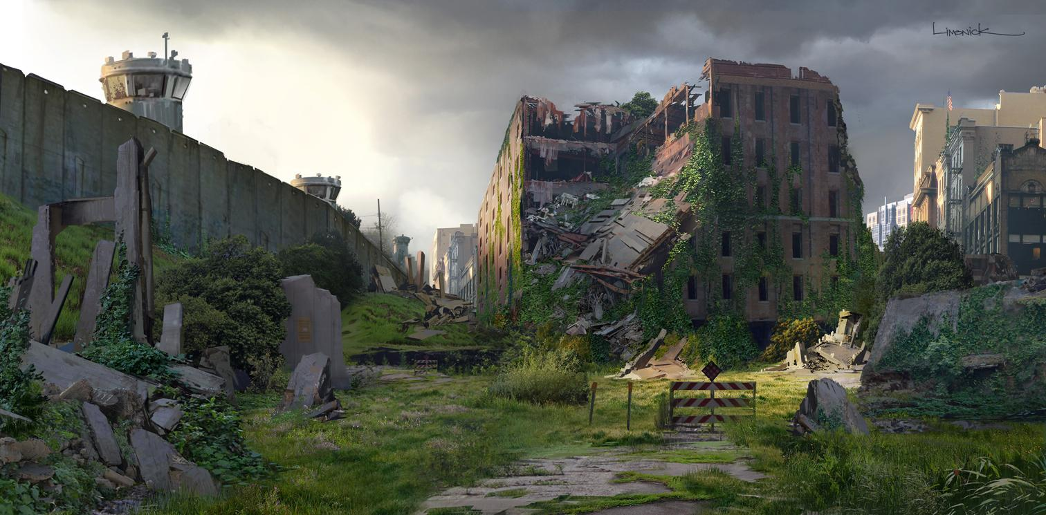 Image of city in ruins from comic book The Last of Us, Dark Horse Books 2013