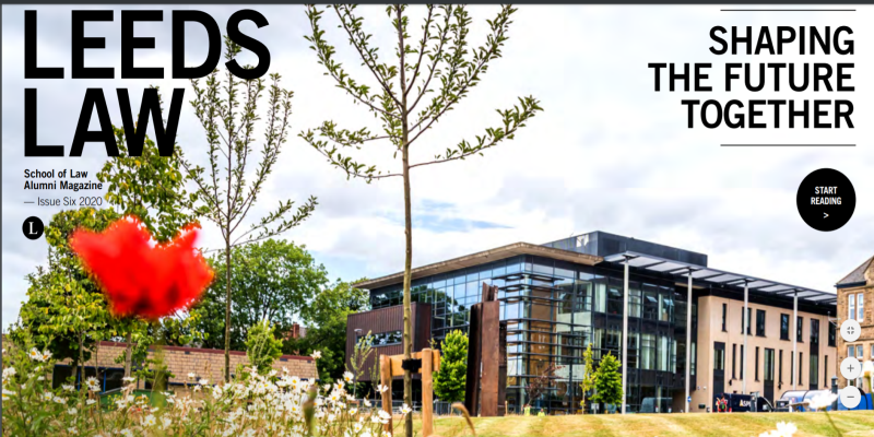 The School of Law's Alumni Magazine 'Leeds Law' published as interactive PDF