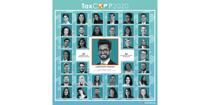 Dr Leopoldo Parada recognised as one of TaxCOOP's 35 Leaders of the Future 2020