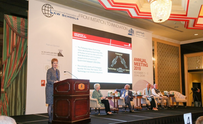 Professor Norma Martin Clement presents findings at the International Association of Law Schools