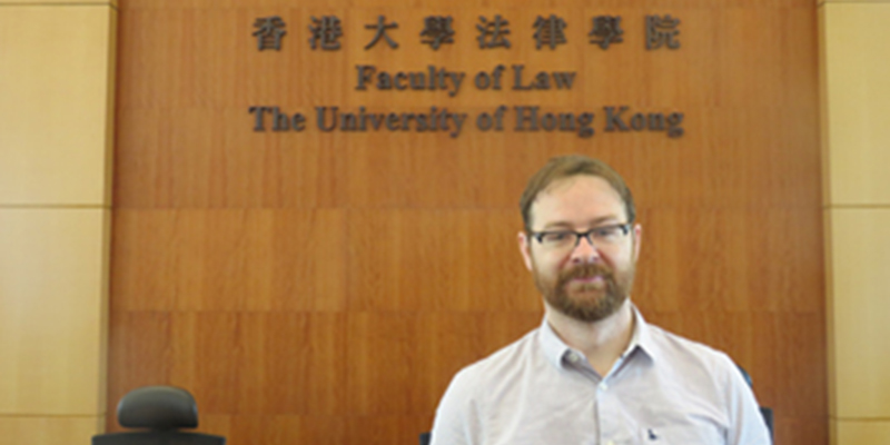 Professor Peter Whelan delivers a guest lecture at Hong Kong University