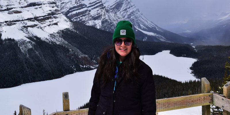 Alumni Georgina White pictured in Canada on her study abroad year
