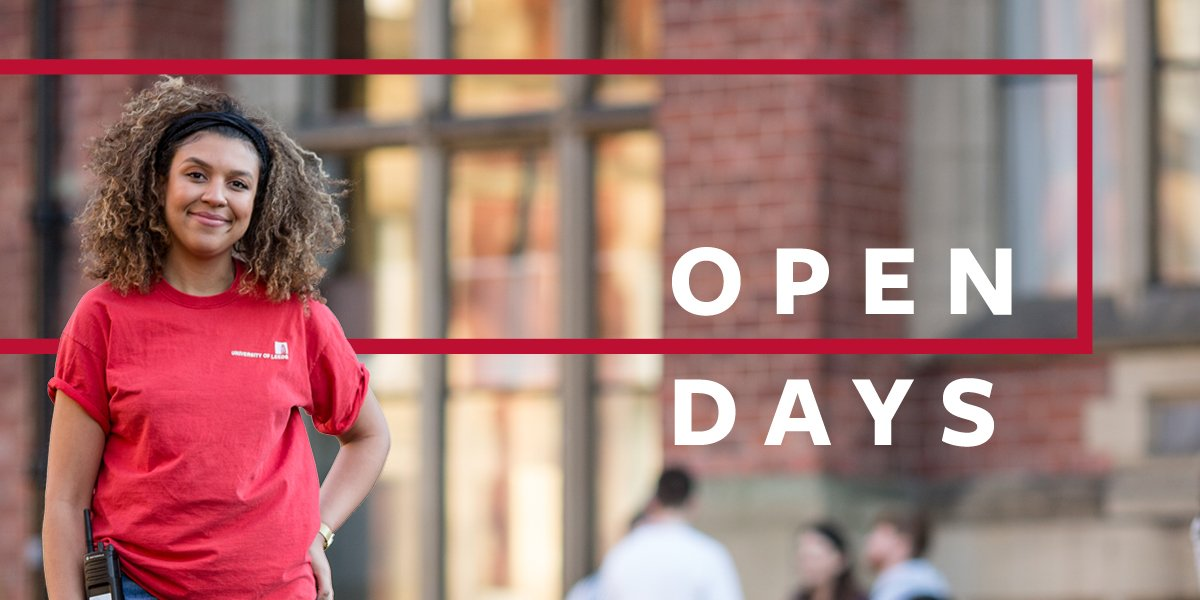 Book onto our undergraduate open days