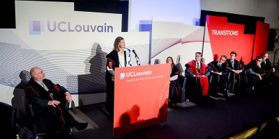 Professor Anna Lawson receives an honorary doctorate from the University of Louvain-la Neuve.