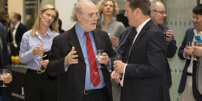 Clive Walker at the celebration of the CCJS' 30th anniversary