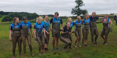 Staff at the start of Tough Mudder