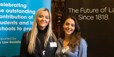 Alice Sleep and Amber Anders at he LawWorks Student Pro Bono Awards