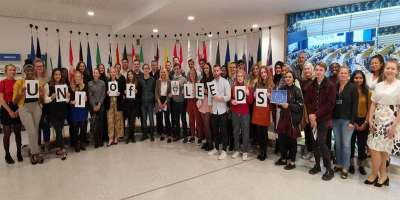 students at European Parliament