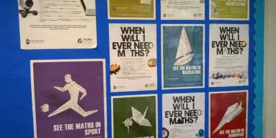 Posters promoting maths at a-level