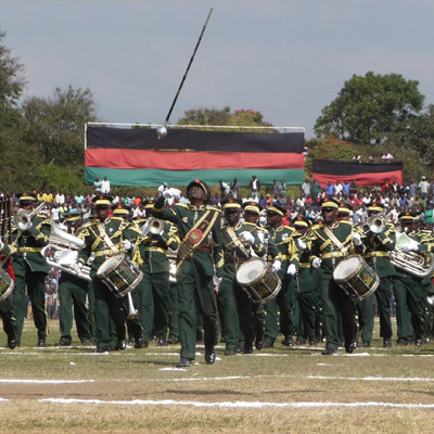 Parade in Africa. Image courtesy of Dr Emma-Louise Anderson